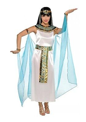 Cleopatra Costume Adult Egyptian Halloween Fancy Dress 638 Small Sz. 2-4 - Cleopatra Adult Costume