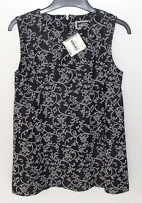 BNWT Genuine Authentic Young Versace Sleeveless Black Grey Dress Age 8 RRP $225
