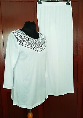 New Hanro Pyjama Malene Pyjama in White RRP £184.00 Current Collection