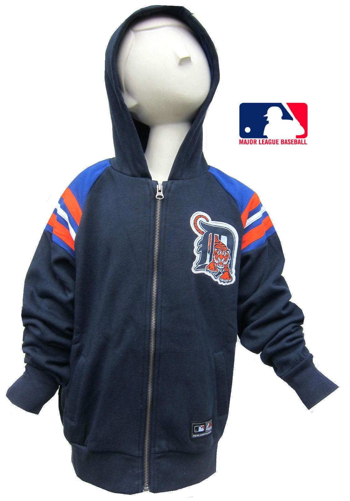 1b40fa393 Details about Detroit Tigers Boys/Girls Navy Blue Hoodie Major League  Baseball Hoody 8-15Y