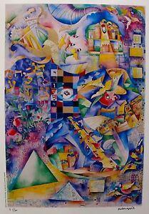 Raphael Abecassis JERUSALEM 3000 Hand Signed Limited Edition Lithograph