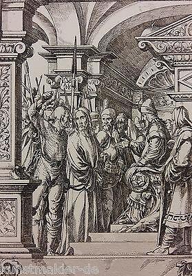 Hans HOLBEIN (1497-1543) Radierung Édouard Lièvre (1828-1886) La Passion 01/10