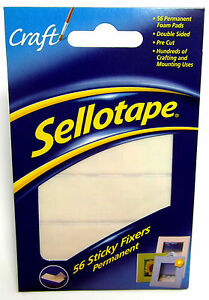 Sellotape-Sticky-Fixers-Permanent-Foam-Pad-Double-Sided