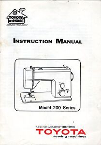 Toyota-Model-200-series-Sewing-Machine-Instruction-Manual