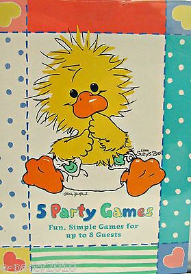 Little Suzy's Zoo Ducky Games Book Baby Shower Party Supplies