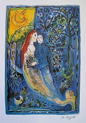 "MARC CHAGALL ""WEDDING"" Limited Edition Facsimile Signed Lithograph Art"