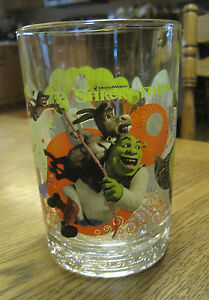 2007 Shrek the Third McDonalds Promo Glass