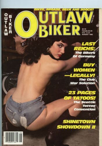 Outlaw Biker Motorcycle Magazine Aug 1985 August See My Store