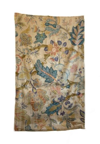 Beautiful Late 19th Early 20th Century French Silk Jacobean Floral Fabric (3048)