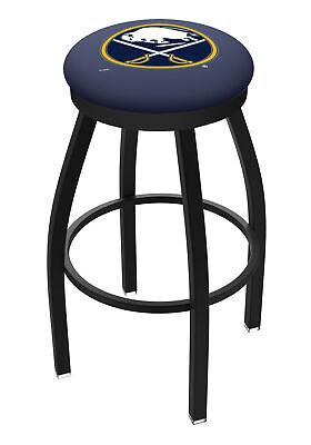Buffalo Sabres HBS Black Swivel Bar Stool with Blue Cushion Buffalo Sabres Bar