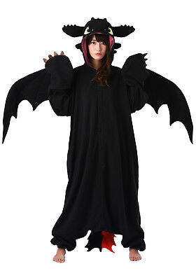 SAZAC Toothless the Dragon Kigurumi - M+ & XL Halloween Costume from USA