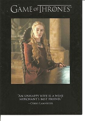 Game of Thrones Season 3 Quotable Insert Trading Card #Q23