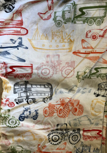 IKEA Ljudlig Twin Duvet Cover Pillowcase Car Trucks Plane Transportation - $15.99