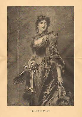 Fashion Fan, Masquarade Ball, Mask, Dress, Vintage 1892 German Antique Art Print](Masquarade Costumes)