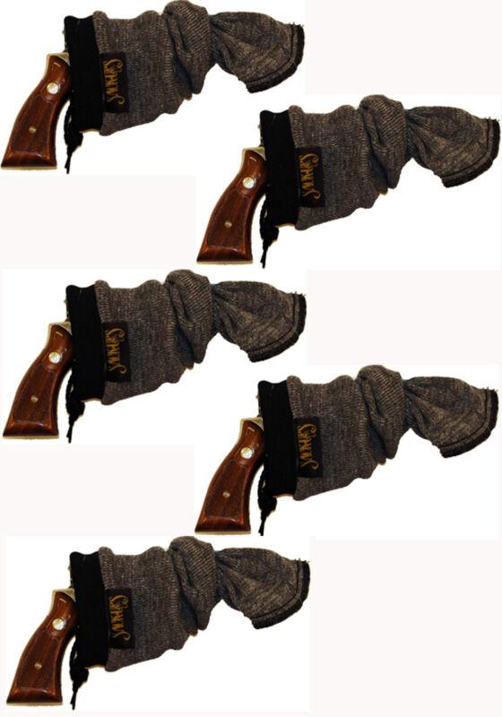 "Sack - Ups 13.5"" Pistol Sock Handgun Sleeve Silicone Treated Five Pack Made USA"