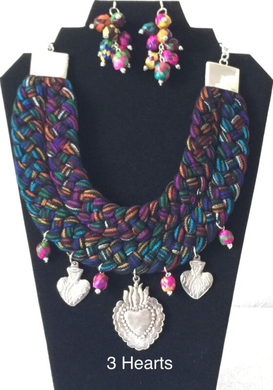 Handcrafted Artisan Jewelery Necklace and Earrings