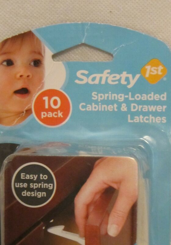 Safety First Cabinet Drawer Latches 10-Pack Spring-Loaded Brand New