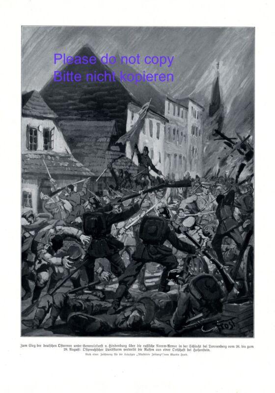 Battle of Tannenberg XL 1914 German art print Narew Armee Russian soldiers +