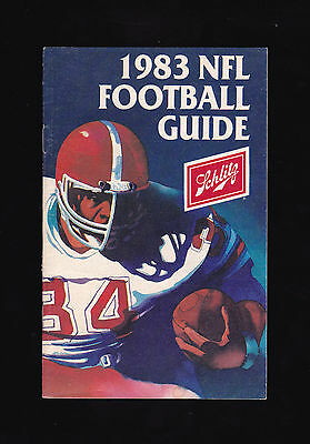1983 NFL Football Guide--Schlitz.  Clean, nice shape.  Fair shipping.