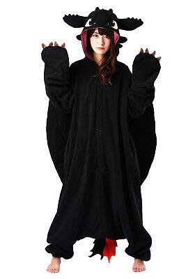 Toothless the Dragon Kigurumi - M+ & XL Halloween Costume from USA