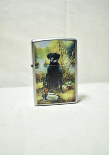 Vintage Bradford Zippo Lighter 08 Made In U.S.A w/Design Dog Collectible