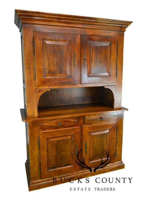 Italian Walnut Large Stepback Cupboard