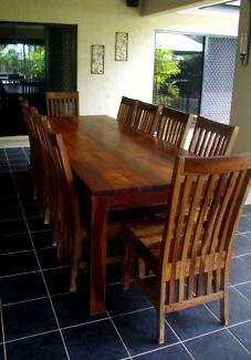 Amazing 10 seater table with 10 solid chairs fantastic condition Redlynch Cairns City Preview