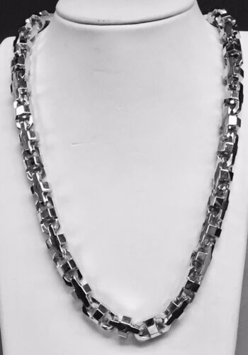 """14k Solid White Gold Mariner Anchor Bullet Chain Necklace 10.5 Mm 315 Grams 32"""""""