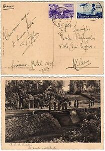 162 - Colonie, Etiopia - Affrancatura mista (Etiopia Somalia) su cartolina - Italia - L'oggetto può essere restituito - Italia