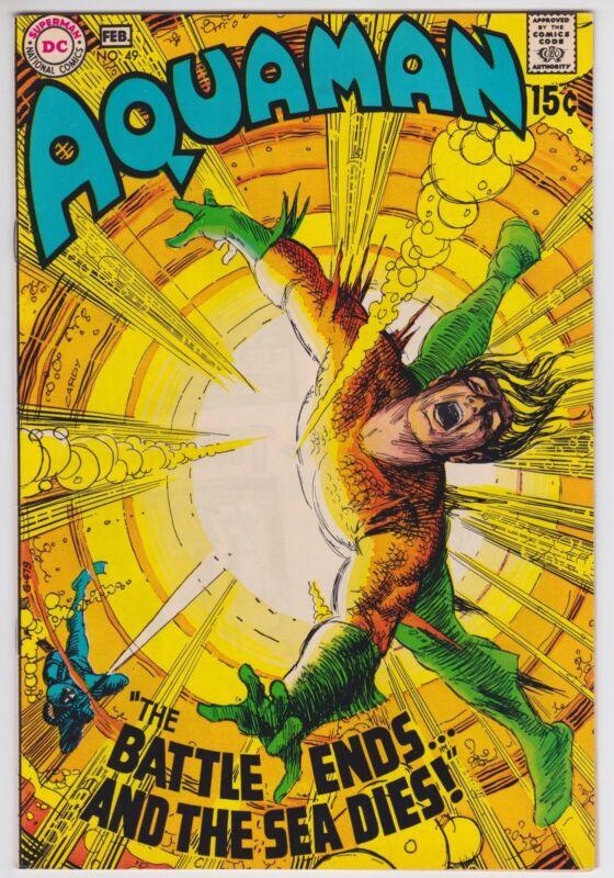 Aquaman #49 VF-NM 9.0 Aqualad Mera Jim Aparo Art 1970!