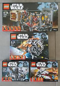 Star Wars Lego 75180 + 75178 +75182 + 75183.  BRAND NEW /sealed Hamilton Brisbane North East Preview