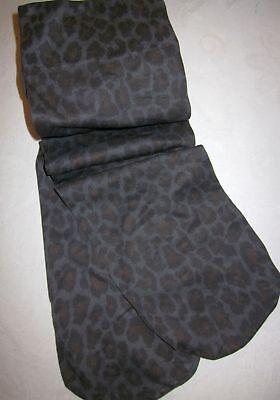 Kniestrümpfe Strümpfe Leo Print Leopard schwarz grau 34 36 38 40 42 XS S M L NEU