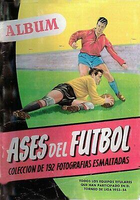 ALBUM CROMOS FUTBOL FACSIMIL 53-54 ASES DEL FUTBOL BRUGUERA COMPLETO Y NUEVO