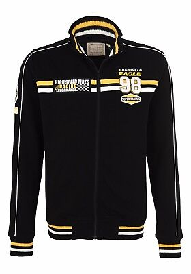 Goodyear Fairbanks Sweat Zipjacket Sweatjacke schwarz Racing Jacket