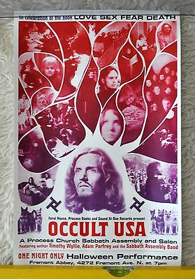The Process Church Sabbath Assembly Occult USA Halloween Art Print Poster Rare  - Halloween Assembly