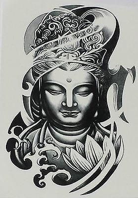 sh Buddha Mönch Gothic Punk Halloween gruselig (Halloween Tattoo Flash)