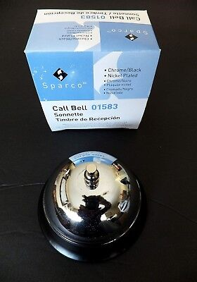 Sparco Call Bell (Sparco Call Bell 01583 Nickel Plated Chrome Black Base New In)