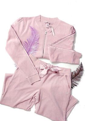 2 Victoria's Secret Velour Jacket Jogger Pants set velvet lavender CFZ XS S M L (Goth Christmas Sweater)
