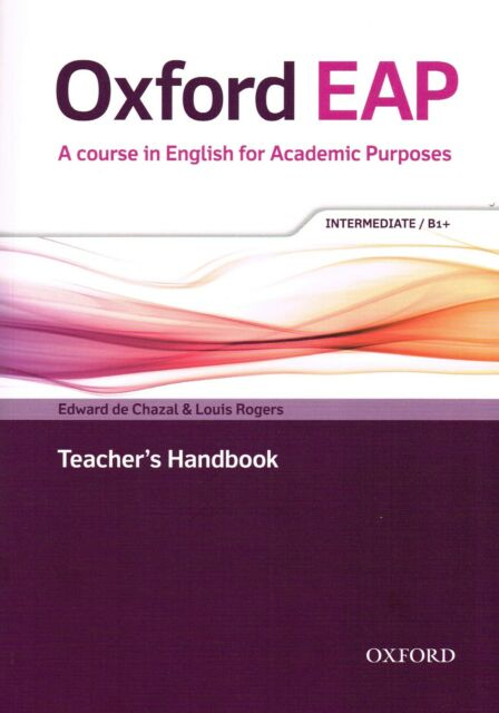 Oxford EAP INTERMEDIATE B1+ Teacher Book w DVD & Audio CD Academic English @NEW@