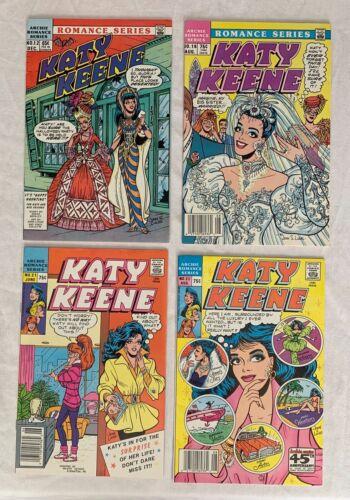 ARCHIE COMICS  KATY KEENE 12, 16, 21, 22  1985  1987  NICE COPIES