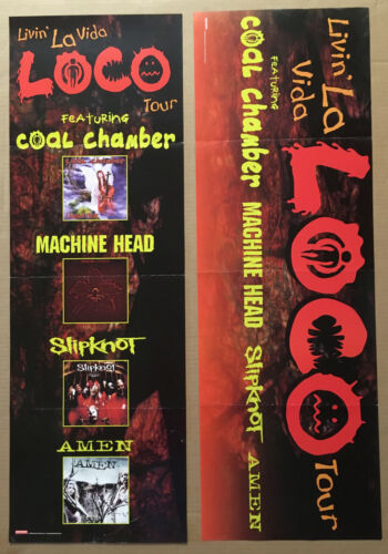 SLIPKNOT & MACHINE HEAD & COAL CHAMBER Rare TOUR PROMO POSTER for 1999 CD 12x36