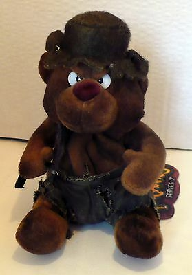 1998 MEANIES SERIES 2 BURNY THE BEAR PLUSH BEANIE NWT 6""