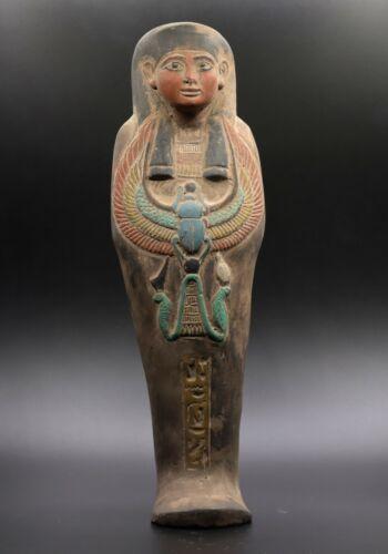 RARE EGYPT EGYPTIAN ANTIQUES Large STATUE Ushabti Shabti SCARAB STONE BC