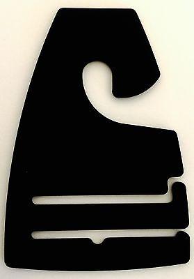 Qty 10-400 Black Plastic Tie Rack Necktie Hanger Hooks Retail Shopping Supply