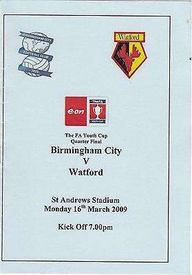 Birmingham City Youth v Watford Youth 2008/9 FA Youth Cup