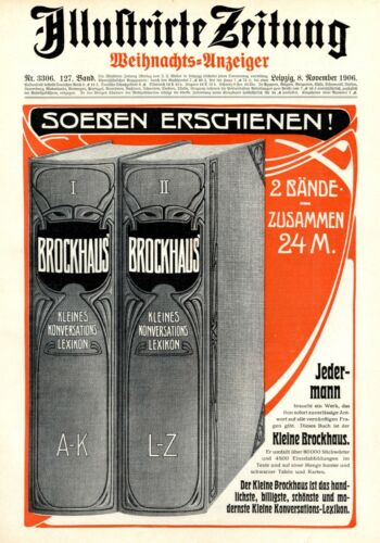 Brockhaus lexicon XL 1906 German ad book advertising