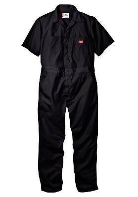Mens DICKIES #33999 Short Sleeve COVERALLS Black Grey Khaki Blue Red