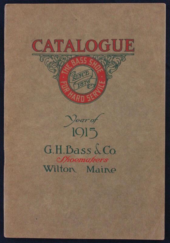Original 1915 G.H. Bass Shoe/Boot Catalog Wilton Maine
