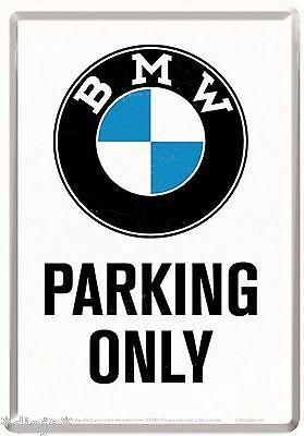 Nostalgic Art BMW Parking Only Blechpostkarte 14 x 10 cm