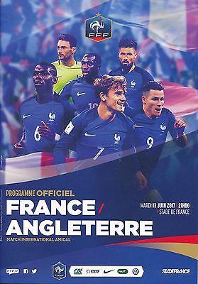 FRANCE v England (Friendly in Paris 13th June) 2017